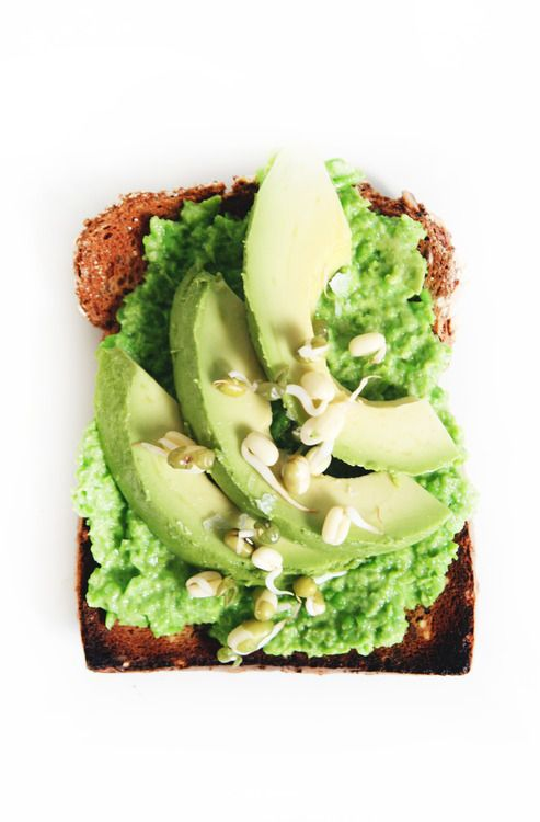 Tasty Plan - Spring Toast (Avocado, Pea Hummus & Sprouts)