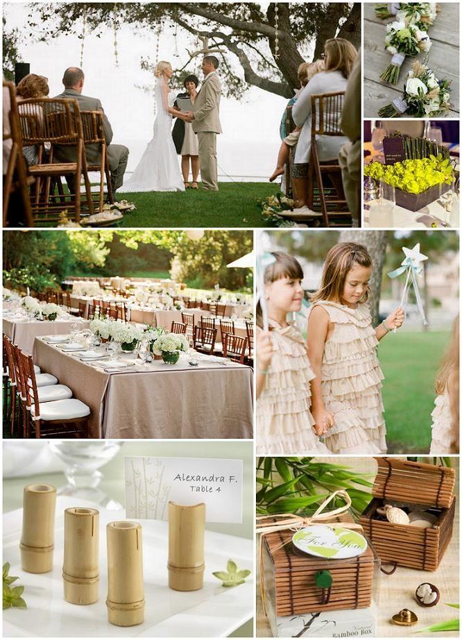 bamboo organic wedding  wedding planning  Pinterest