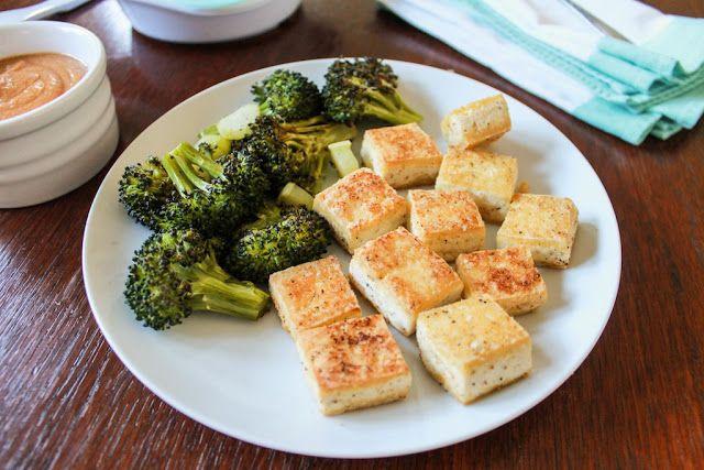 Salt and Pepper Tofu with Peanut Sauce | SAVORY | Pinterest