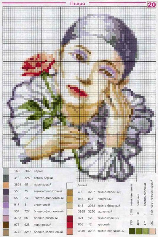 Как сделать схему вышивки крестом по картинке 22
