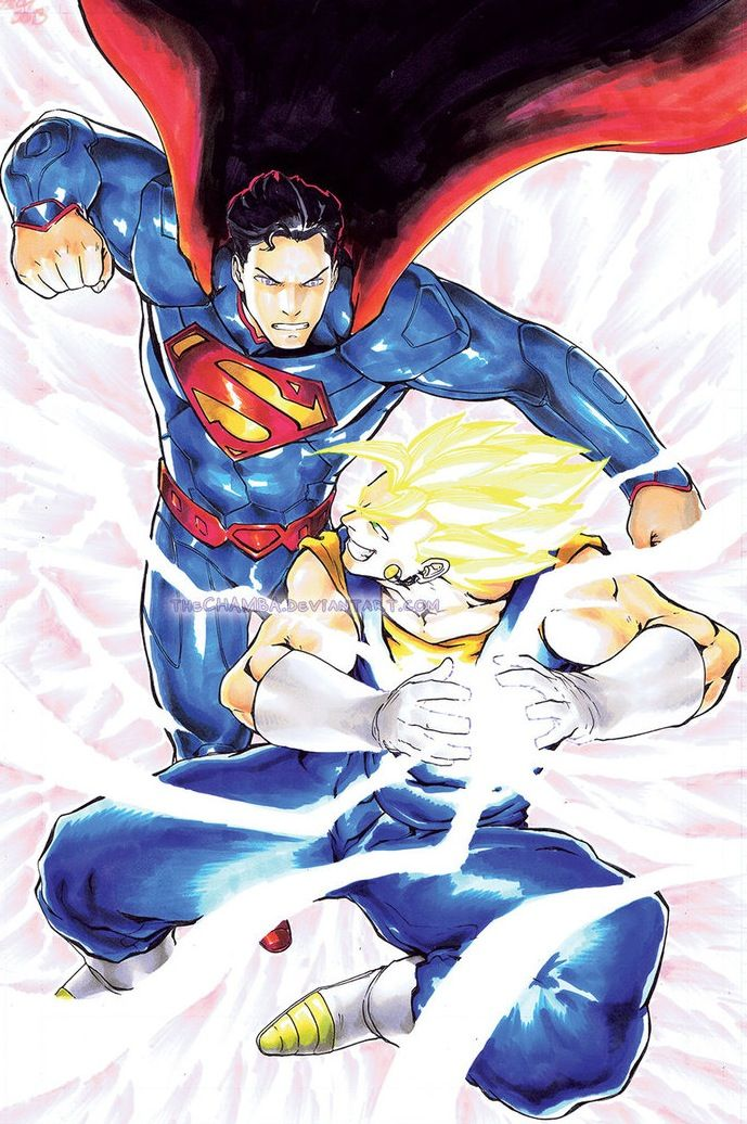 Superman vs Gogeta or Vegeto or whoever | Comic crossovers ...
