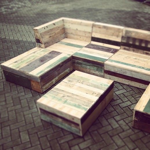 recycled pallet garden furniture patio plans pinterest
