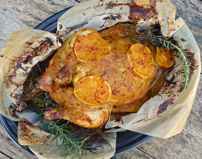 My Fragrant Roasted Chicken | Aglaia's Table in Kea Cyclades