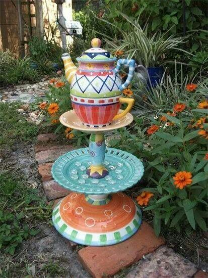 Precious whimsical garden ideas pinterest for Craft ideas for garden decorations