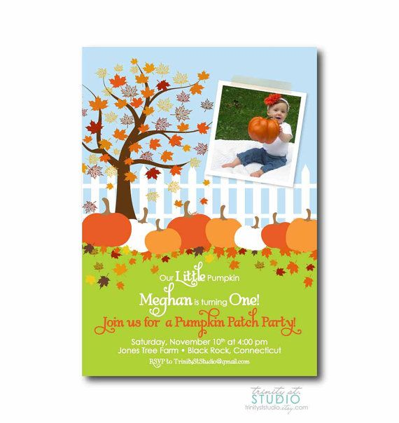 Fall Birthday Party Invite Pumpkin Patch by TrinityStStudio, $17.00