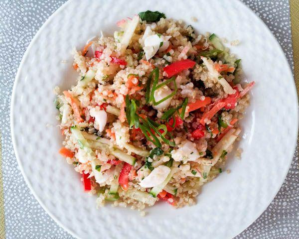 Black Thai Quinoa and Crab Salad with Yuzu Vinaigrette @Priscilla ...