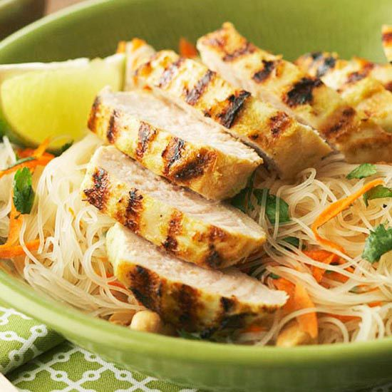 Ginger-Lemongrass Chicken with Cilantro Rice Noodles from the Better ...