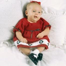Baby s christmas dress thread crochet pattern epattern