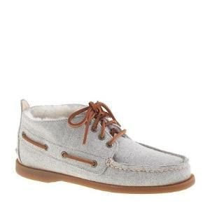 Sperry Top-Sider for J.Crew shearling-lined flannel chukka boots