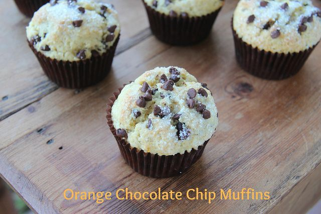 ... chocolate. YUM Orange Chocolate Chip Muffins by Food Librarian, via