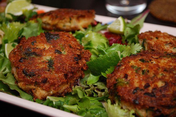 Ginger Scallion Crab Cakes | tastes of summer | Pinterest