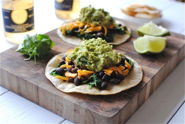 Easy Black Bean and Guacamole Tostadas | eats. | Pinterest