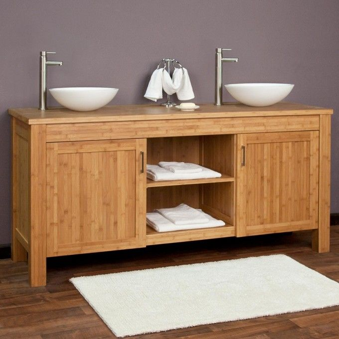 Bamboo Vanity Bathroom Classy Design Ideas