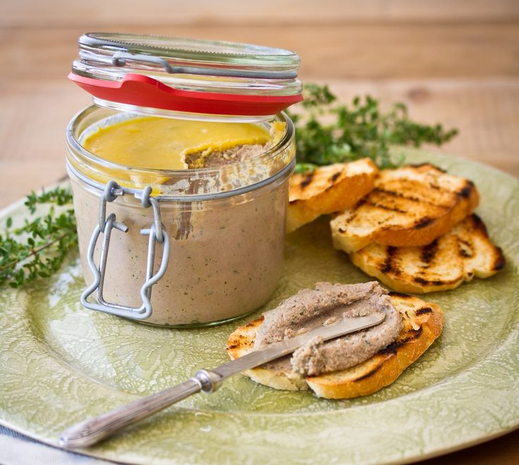 Ultimate chicken liver pate with brandy & cream