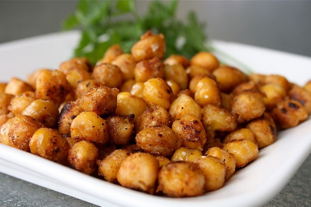 Pan Fried Cajun Chickpeas, good as a side, snack, or salad topper ...