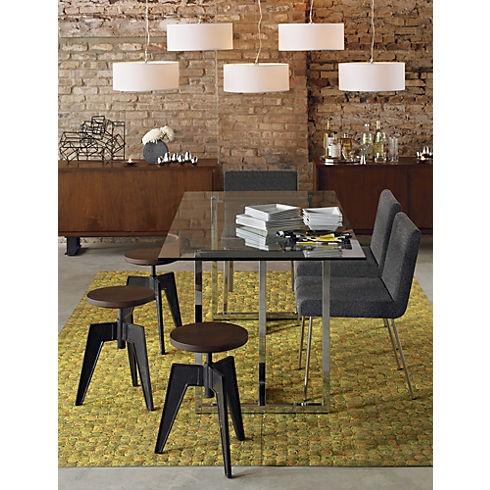 Silverado table cb2 kitchen island table ideas pinterest - Dining table against the wall ...
