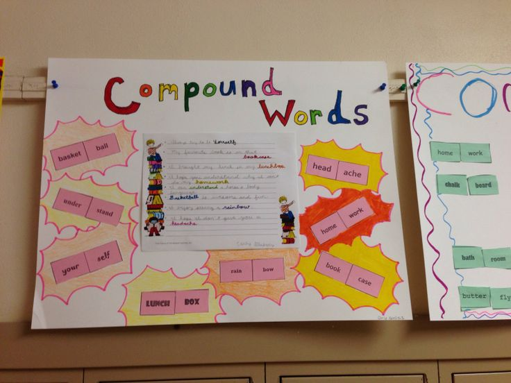 Compound words   My creations   Pinterest