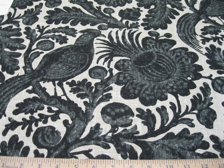Fabric Waverly Sun n Shade Tucker Resist Ebony WV36 Curtains?