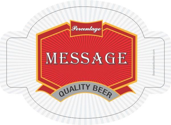 Gothic Red Brew Beer Label Template | DIY Beer Labels | Pinterest