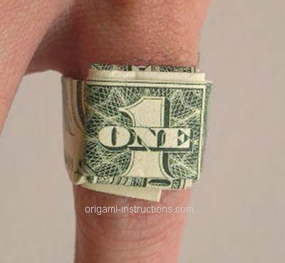origami dollar bill ring origami pinterest