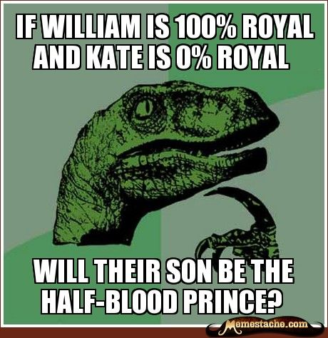 This is even funnier now, A) because Harry Potter books just turned 15, and B) the royals just announced that the Duchess is indeed pregnant.