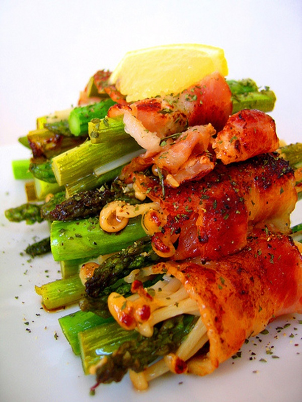 bacon asparagus | Recipes I want to try | Pinterest