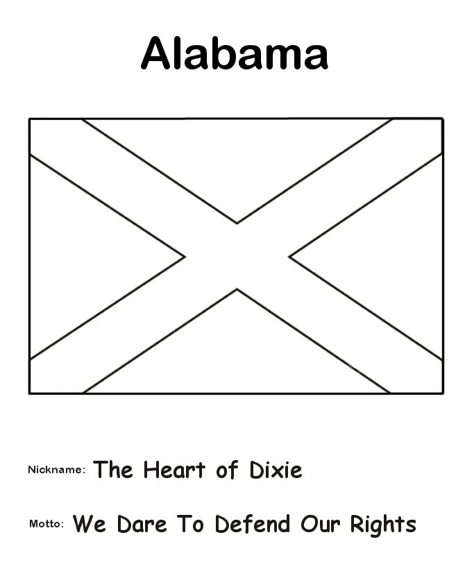Alabama State Flag Coloring Page The History Teacher Alabama State Flag Coloring Page