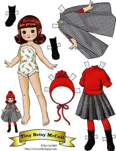 Как сделать кукольные куклы из бумаги