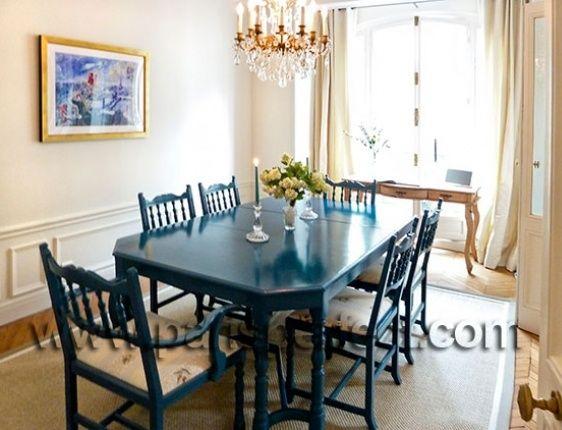 blue dining room table house ideas