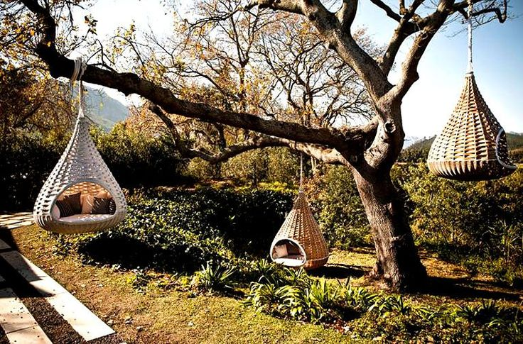 outdoor hanging pod chairs my future home pinterest