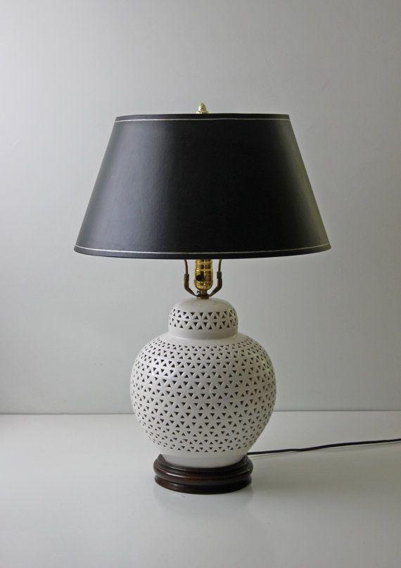 blanc de chine porcelain bulbous table lamp large white. Black Bedroom Furniture Sets. Home Design Ideas