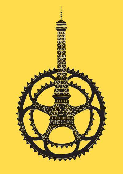 Le Tour de France 100th Anniversary Art Print