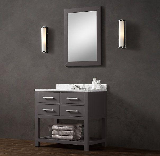 36 vanity powder room bathroom pinterest for Vanities for powder rooms