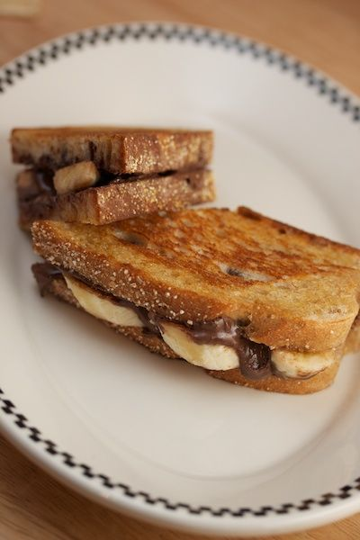 Grilled Nutella and Banana Sandwich | Sweets | Pinterest