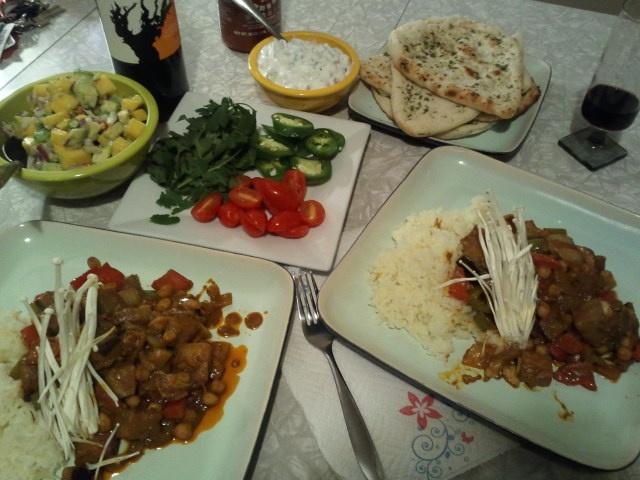 Chickpea Curry, Chipati, Mango/Avocado/Thai Chili Chutney, Lime Chili ...
