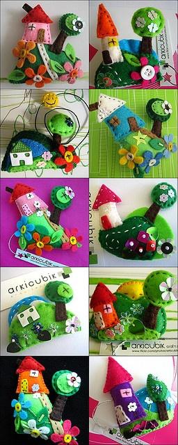 My fairy tale houses by arkicubik, via Flickr