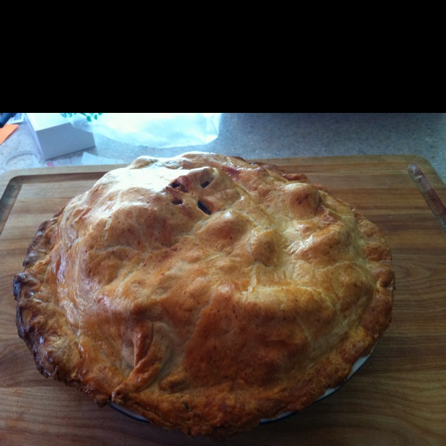 Apple Pie With Cheddar Crust Recipe — Dishmaps