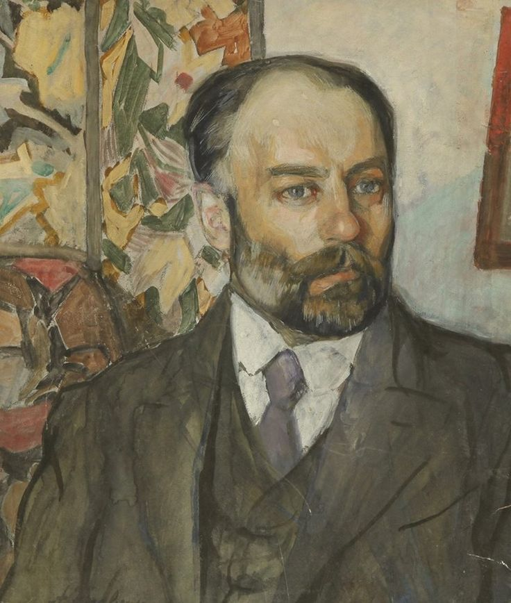 Alexander golovin 1863 — 1930 russia portrait of a man gouache