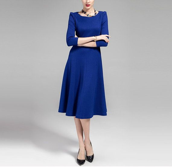 Bridesmaid, Maid of Honor - Spring Knit Dress Lady Women Clothing Gown
