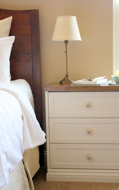 THE CHARMING NEST}: {New Bedside Tables...they're a RAST hack}