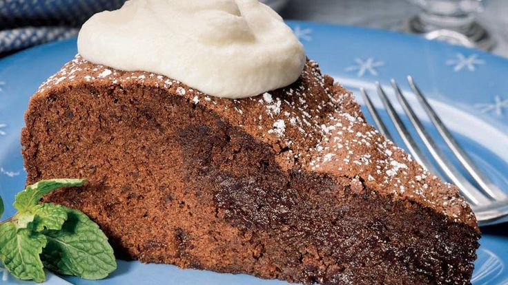 ... brownie soufflé cake with mint cream – a lavish chocolate dessert