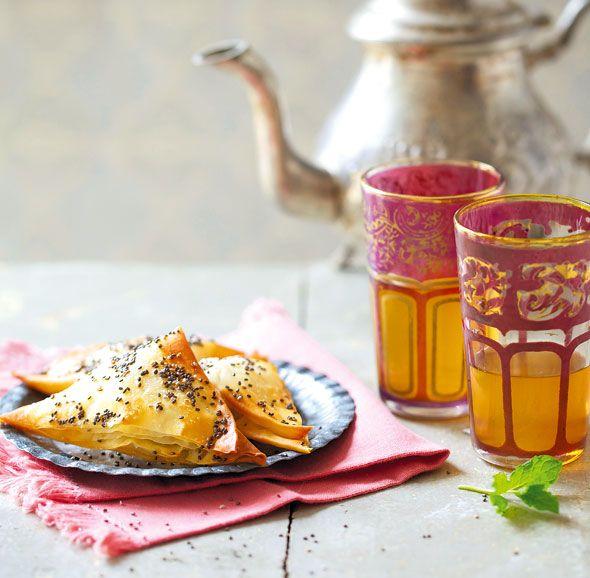 ... Mint Tea with Apple, Cinnamon and Cardamom Bourekas by Liz Franklin