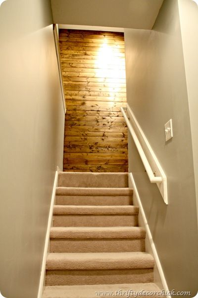 Basement Stairs W Planked Wall Beautiful For The Home