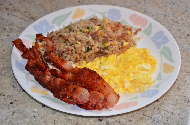 Bacon, Oxtail Fried Rice and Eggs | Rice and egg:D | Pinterest