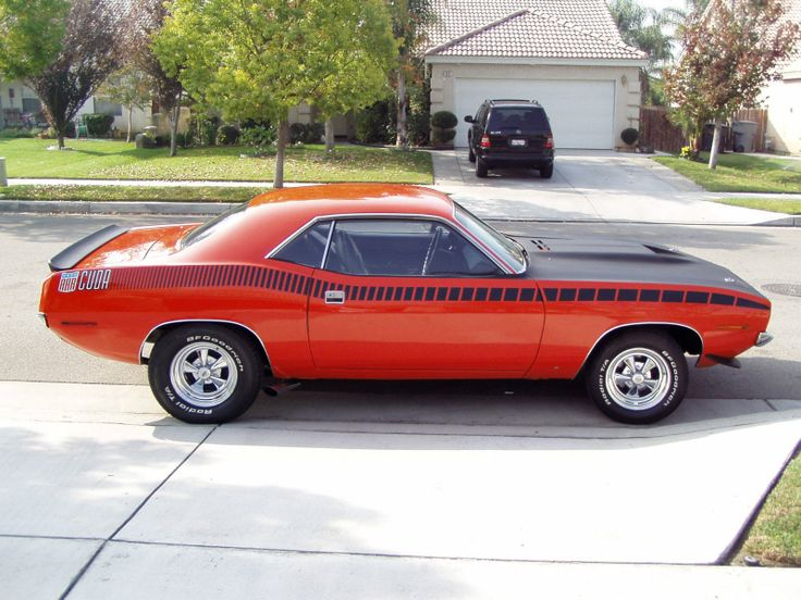 Red 1970 Plymouth Barracuda