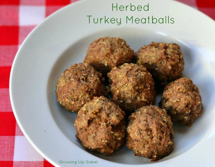 Herbed Turkey Meatballs from McCormick Spices #sponsored #recipe # ...