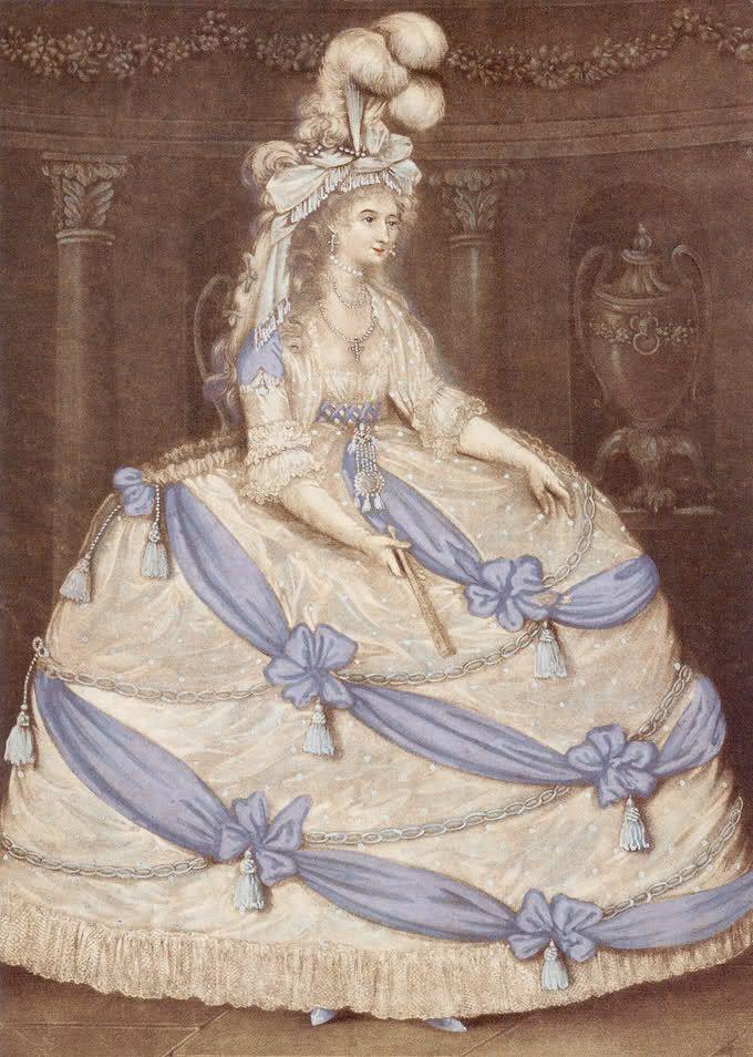 Принцесса Уэльская в придворное платье, 1795