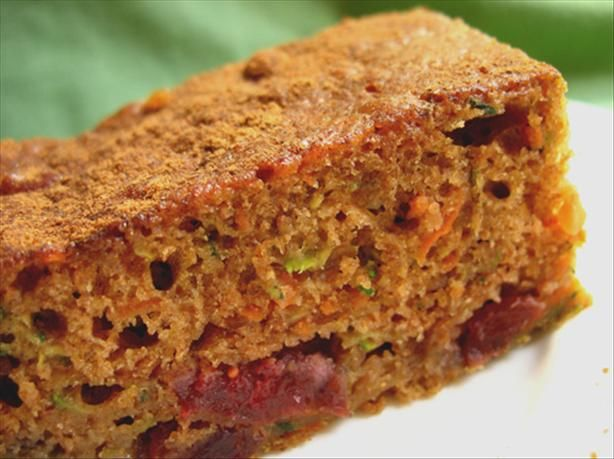 Extremely Healthy Fiber Packed Zucchini Carrot Cranberry Bars | Recipe