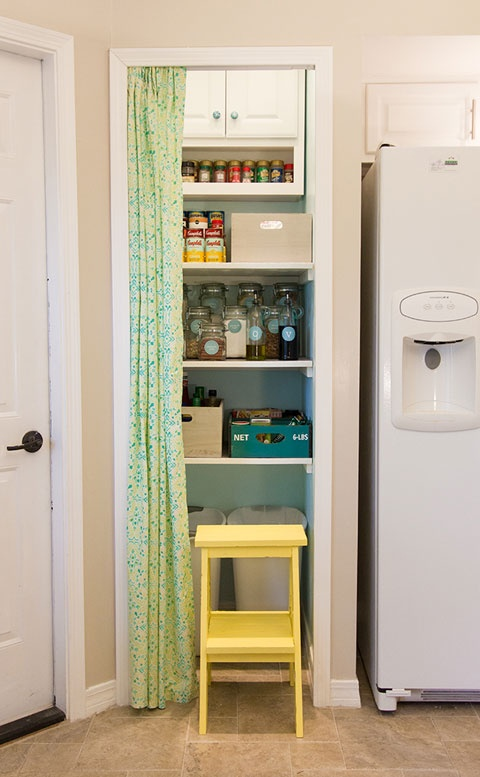Superior Kitchen Pantry, Curtain Door. I Did This In My Dorm Room. Its A