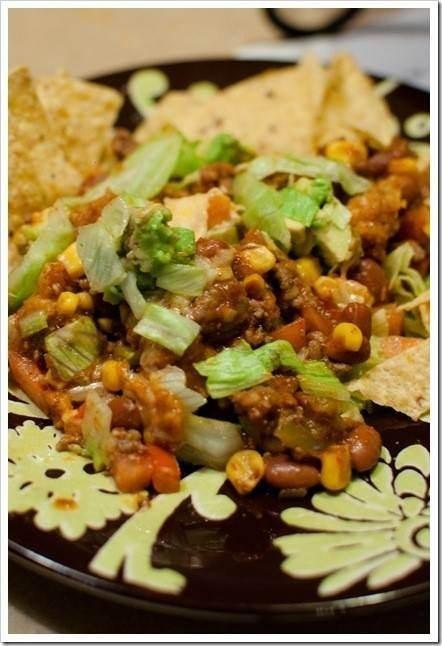 LAYERED FIESTA TACO SALAD BAKE | Yummy recipes... | Pinterest